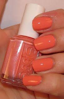 #coral #nails #nailpolish