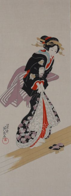 Tissu japonais tenugui « Eisen Bijin » w/Free Shipping