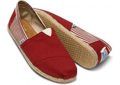 Shop Women's TOMS Red size 5 Espadrilles at a discounted price at Poshmark. Description: Brand new without the box red university style Toms with red stripes! Super cute and great for summer. Cheap Toms Shoes, Toms Shoes Outlet, Buy Shoes, Red Toms, Men's Toms, Toms Espadrilles, Toms Classic, Discount Shoes, Fashion Shoes