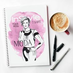 #fashion #illustration #style #coffee