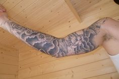 Full Sleeve Cloud and Ship Tattoo Designs for Men - Tattoo Well - High Definition Tattoos
