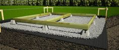 How to Build a Shed Foundation with Deck Blocks Shed Foundation Ideas, Deck Foundation, Concrete Deck Blocks, Concrete Footings, Pier Blocks, Shed Base, Floating Deck, Building A Fence, Building Design