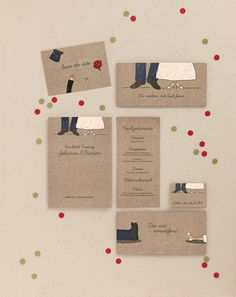 Mit beiden Beinen im Leben - Papeterie, Hochzeitspapeterie, Karten, Einladung, Kirchenheft, Danksagung, Save-the-Date, Menü, Programmheft, Hochzeitszeremonie