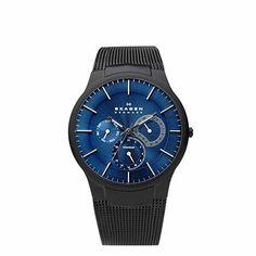 Black & Blue Multifunction Watch® 809XLTBN SKAGEN:{3} {4} {5}