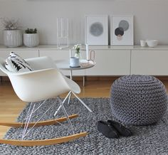 Eames, pouf and pastel, love it