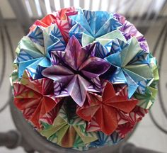 It Would Make Me Happy To Look At This Pretty Origami Ball In My Office