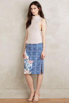 NEW ANTHROPOLOGIE Becancour Pencil Skirt 0 XS by Moulinette Soeurs #Anthropologie #StraightPencil