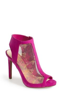 Jessica Simpson 'Nynette' Open Toe Mesh Bootie (Women) available at #Nordstrom