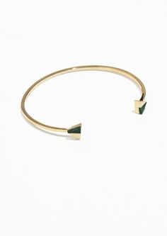 & Other Stories Triangle Bangle  in Gold