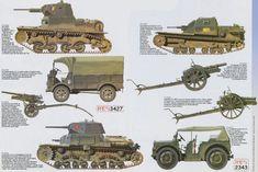 Italian fighting vehicles & guns North Africa