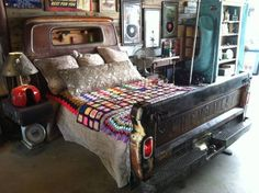 This has to be the best use of an old patina truck cab and bed!!!