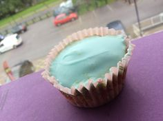 Amazing cupcake with blue glacé icing 💙