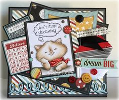 Cat Stop Thinking of You [C1212] - $6.35 : Whimsy Stamps