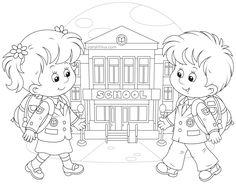 Dibujos para colorear. Maestra de Infantil y Primaria
