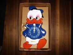 Walt Disney Productions Vintage Donald Duck Clock All Original MI Ken | eBay
