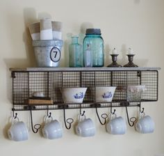 farmhouse musings: Wire Mesh Cubby and Coat Rack is Back in Stock