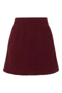 MOTO Cord A-line Skirt
