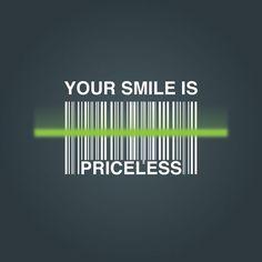 Bar code price smile priceless