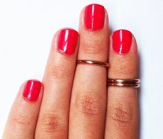 Rose Gold Above Knuckle Rings