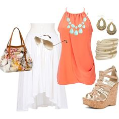 Light and airy.perfect night outfit for a beach vacation
