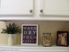 Cute sign for the laundry room.