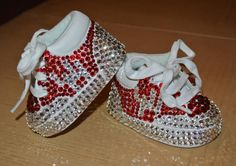 UH University of Houston Swarovski toddler / baby tennies sneakers