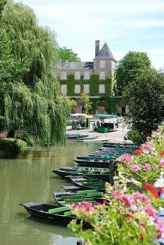 The Grand Site du Marais Poitevin, 375 sq. mile natural park in western France near La Rochelle.