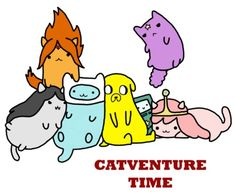 Adventure time x pusheen