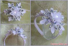 Ободок с цветком купить в интернет-магазине подарков ручной работы | С крупным цветком | Страна Мастеров