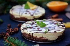 RAW FOOD Cheescake på pepparkaksbotten med choklad- och apelinfyllning