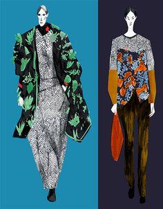 Kenzo I Olya Leontieva Fashion Illustration Portfolio, Illustration Mode, Fashion Portfolio, Creative Illustration, Fashion Design Drawings, Fashion Sketches, Fashion Art, Trendy Fashion, Fashion Ideas