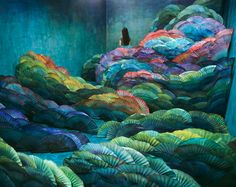 Nightscape by Jee Young Lee, set created in her small 11.8 x 13.5 x7.8 foot studio  #art #artwit