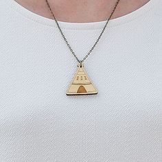 Laser Cut Wooden Teepee Necklace by GingerPickle1 on Etsy