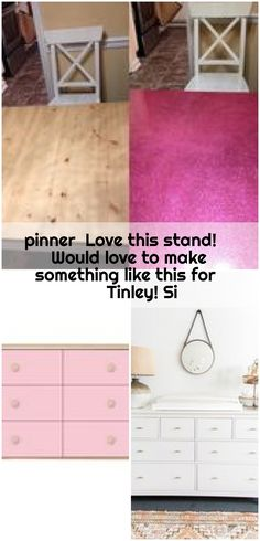 pinner Love this stand! Would love to make something like this for Tinley! Si , pinner Love this stand! Would love to make something like this for Tinley! Ikea Dresser Hack, Love, How To Make, Furniture, Home Decor, Amor, Decoration Home, Room Decor, Home Furnishings