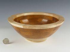 Wooden bowl, Wood turning, Decorative  bowl, Flower inlay, Handmade wood bowl, Segmented bowl, Knick knack bowl, Decorative bowl,Candy bowl by TimsWoodturnings on Etsy