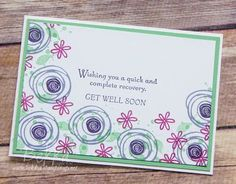 Get Well Soon Card featuring Swirly Bird from Stampin' Up! UK | Feeling Crafty | Bloglovin'