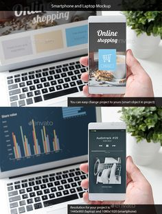 Buy Smartphone and Laptop Mockup by proxima-studio on GraphicRiver. Smartphone and Laptop Mockup Features: Layered PSD files Simple edit (Smart Object in project) Screen resolution for . Display Mockup, Box Mockup, Mockup Templates, Apple Tv, Apple Watch, Smartphone Shop, Mobile Mockup, Web Design Quotes, Web Design Services