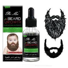 Beard Hair Growth, Facial Hair Growth, Hair Growth For Men, Hair Growth Oil, Leave In, Beard Wax, Men Beard, Soften Hair, Hair Essentials