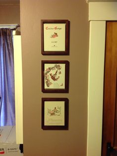 Framed Pages From Old Curious George Books For My Little Monkey. Another  Nursery DIY Success