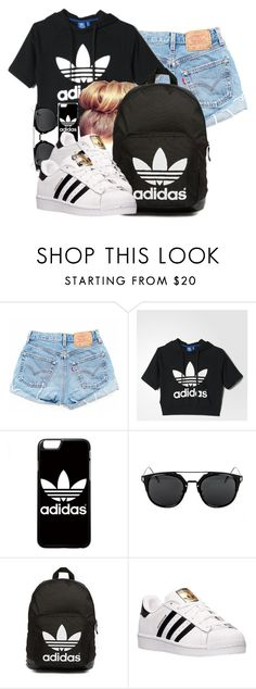 """Adidas"" by lovermonster ❤ liked on Polyvore featuring adidas and adidas Originals"