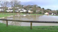 A developer admits a pond on its housing estate has contributed to flooding of nearby properties' gardens.