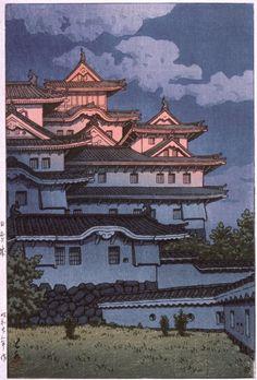 Kawase Hasui - Shirasagi Castle at Sunset | LACMA Collections