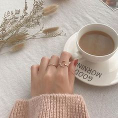 Cream Aesthetic, Aesthetic Coffee, Brown Aesthetic, Moon And Star Ring, Stars And Moon, Coffee Photography, Jewelry Photography, Beautiful Moon, Good Morning Good Night
