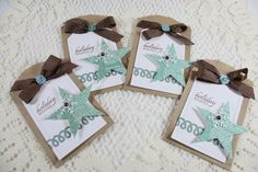 Handmade Holiday Tiny Treat Bags/Gift Card Holders...