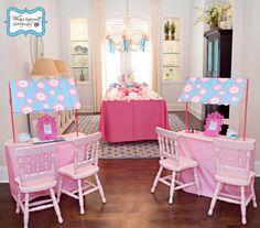 pink party - salon tween party - thepartydress