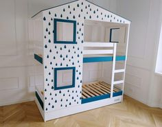 IKEA Mydal bunk bed hack for a play house bed