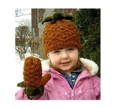 Ravelry: Aloha Pineapple Hat and Mittens pattern by Chandra Willis