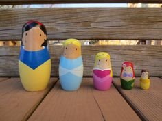 Hey, I found this really awesome Etsy listing at https://www.etsy.com/listing/219168976/princess-wooden-nesting-doll-set