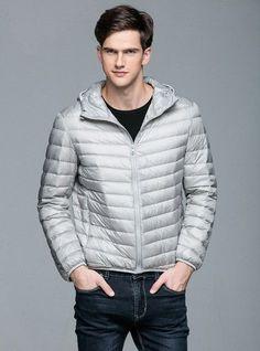 Man Winter Autumn Jacket 90% White Duck Down Jackets Men Hooded Ultra Light Down Jackets Warm Outwear Coat Parkas Outdoors