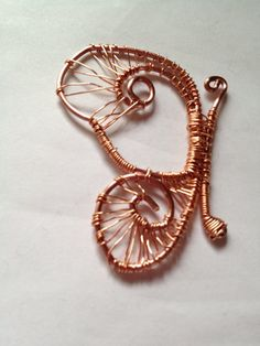 Wire Wrapped Butterfly Pendant